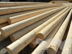 Опора ЛЭП деревянная 11 м